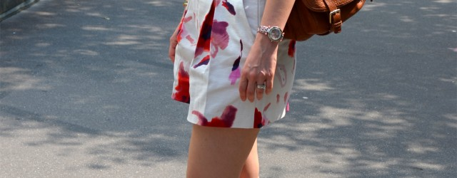 Tenue Short Zara fleurs blog mode www.lessensdecapucine