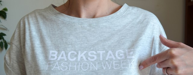 Backstage fashion week zara t-shirt