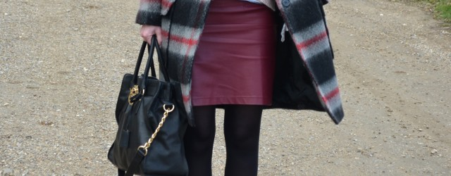 Look blogueuse manteaux à carreaux