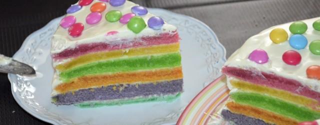 Rainbow cake recette blog