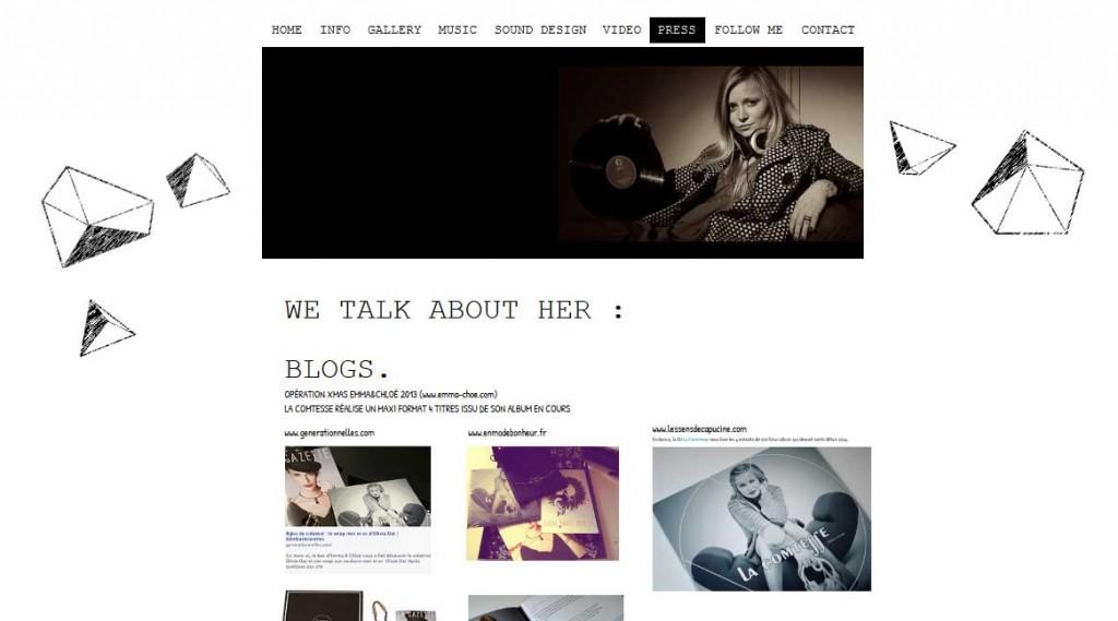 Site DJ La Comtesse