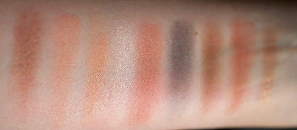 Palette Konscious Vegan Eyeshadow Kiko swatches